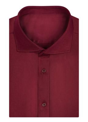 深红色衬衫订做